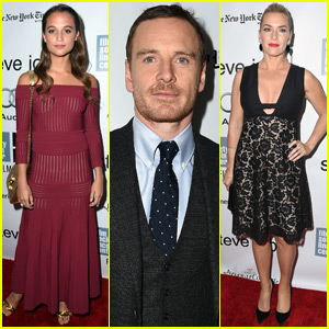 Michael Fassbender Gets Support From Alicia Vikander at 'Steve Jobs' Premiere in NYC