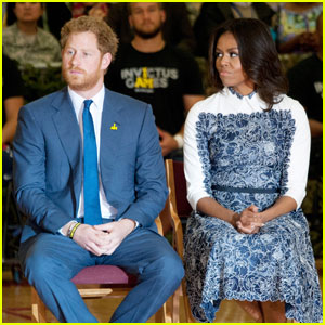 First Lady Michelle Obama & Prince Harry Join Forces For Paralympic Basketball