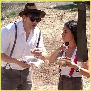 Mila Kunis & Ashton Kutcher Strap On Lederhosen at Oktoberfest