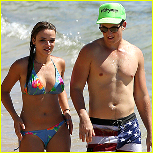 Miles Teller Girlfriend Keleigh Sperry Flaunt Hot Beach Bodies