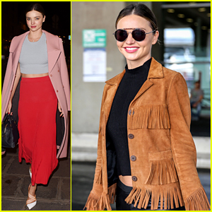 Miranda Kerr Made a Chic Outfit Change On Her Flight