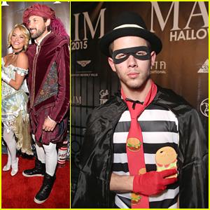 Nick Jonas Celebrates Halloween Early As Hamburgler At Maxim's Halloween Party