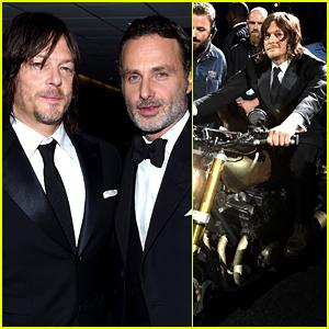 Norman Reedus Makes Epic Entrance at 'Walking Dead' Season 6 Premiere!