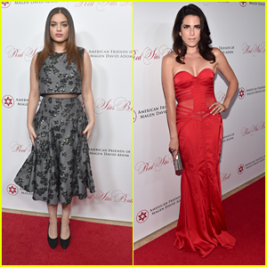 Odeya Rush Speaks At Red Star Ball 2015 With Karla Souza