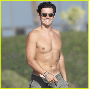 Orlando Bloom Looks Ripped While Shirtless on Malibu Beach