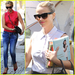 Reese Witherspoon Picks Up Pal Mindy Kaling's New Book