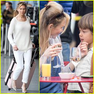 Renee Zellweger Ditches Baby Bump While Filming 'Bridget Jones's Baby'
