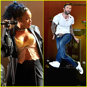 Rihanna & Adam Levine Perform At 'We Can Survive' - See All The Concert Pics!