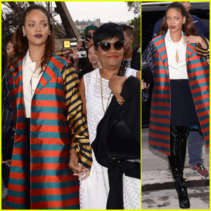 Rihanna Visits the Eiffel Tower With Her Mom & Brother