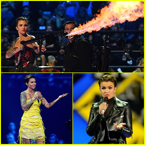 Ruby Rose Changes Up Her Look Multiple Times at the MTV EMAs 2015