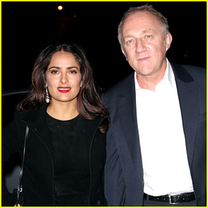 Salma Hayek & Her Husband Hit Up the Alexander McQueen Show