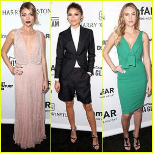 Sarah Hyland & Zendaya Bring Glamour to the amfAR Inspiration Gala!