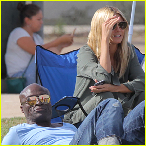 Heidi Klum and Seal Keep Things Friendly During Son's Game