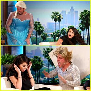 Selena Gomez Gets Scared Twice During 'Ellen' Interview