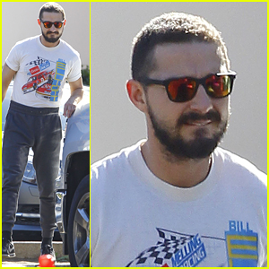 Shia LeBeouf Keeps it Casual for a Midday Bite to Eat