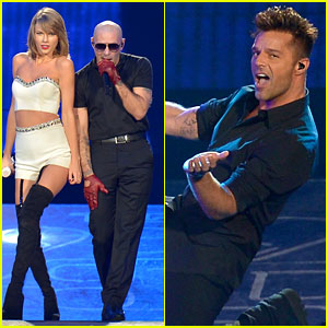 Taylor Swift Welcomes Ricky Martin & Pitbull to the Stage!