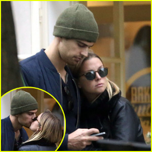 Theo James Packs on the PDA With Ruth Kearney in Prague