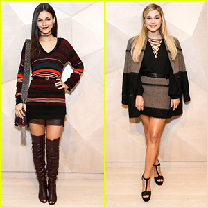 Victoria Justice & Olivia Holt Step Out For Rebecca Minkoff's Los Angeles Grand Opening Event