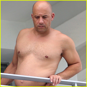 Vin Diesel Goes Shirtless in Miami, Meets Possible 'Fast 8' Director