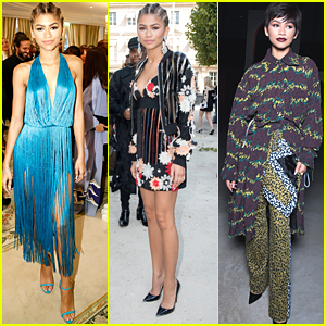 Zendaya Wears Two Different Hairstyles For Three Shows At Paris Fashion Week