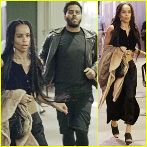 Zoe Kravitz & Boyfriend Twin Shadow Check Out 'Hamilton' on Broadway in NYC
