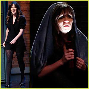 Zooey Deschanel Tells Adult Scary Stories On 'Late Night' - Watch Here!