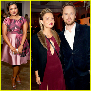 Aaron Paul & Mindy Kaling Live It Up At Hulu's Holiday Party!