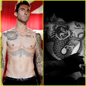 Adam Levine Debuts Giant New Back Tattoo of a Mermaid!