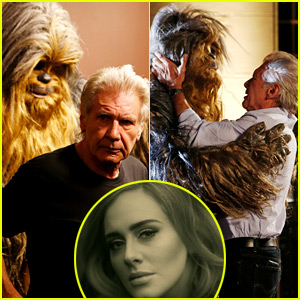 Adele Helps End Harrison Ford & Chewbacca's Longtime Feud - Watch Now!