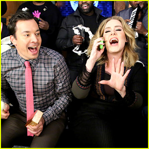 Adele Performs 'Hello' with Classroom Instruments on 'Fallon'