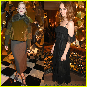 Alice Eve & Lily James Kick Off The Holidays At Claridge's Christmas Tree Party