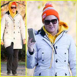 Amy Schumer Takes a Solo Stroll Through Chilly Central Park