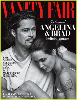 Angelina Jolie & Brad Pitt Cuddle Close for 'Vanity Fair Italia'