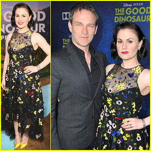 Anna Paquin & Stephen Moyer Bring 'The Good Dinosaur' To Hollywood - Watch New Clip Now!