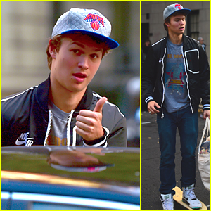 Ansel Elgort Makes Grocery Run After Emma Roberts Joins 'Billionaire Boys Club'