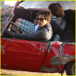 Ben Stiller Films a Car Crash Scene for 'Zoolander 2' in NYC