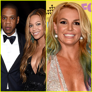 Beyonce & Jay Z Checked Out Britney Spears' Vegas Show!