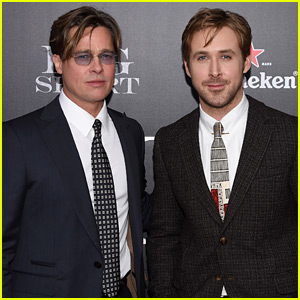 Brad Pitt & Ryan Gosling Premiere 'The Big Short' in NYC!