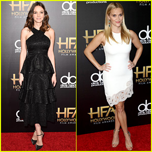 Carey Mulligan & Reese Witherspoon Step Out for Hollywood Film Awards 2015!