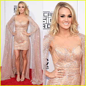 Carrie Underwood Rocks an Epic Cape at the AMAs 2015