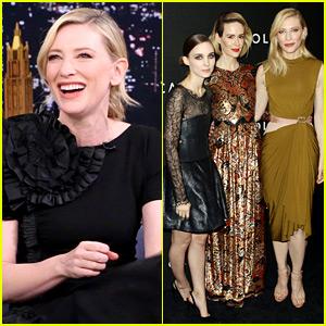 Cate Blanchett Wears Four Stylish Looks to Promote 'Carol'