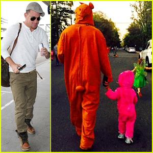 Channing Tatum & Daughter Everly Do a 'Onesie Pimp Walk' on Halloween!
