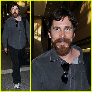 Christian Bale Manages to Crack A Smile at LAX