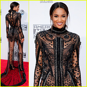 Ciara Goes Sheer, Cheers on Russell Wilson from AMAs 2015 Red Carpet!