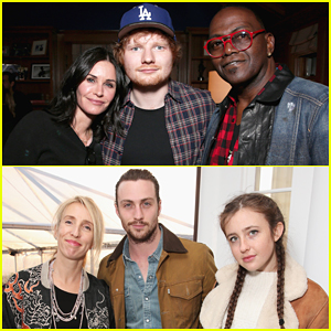 Courteney Cox, Aaron Taylor-Johnson & More Watch Ed Sheeran Perfrom At Rock4EB Party!