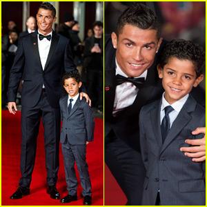 Cristiano Ronaldo Brings His Mini-Me Son Cristiano Jr. to 'Ronaldo' Premiere!