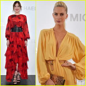 Dakota Johnson & Poppy Delevingne Jet To Japan For Michael Kors Event