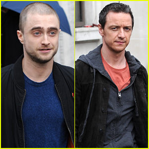 Daniel Radcliffe Shows Off Shaved Head At BBC Radio