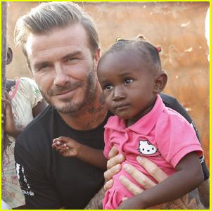 David Beckham Visits African Refugee Camp During UNICEF Tour