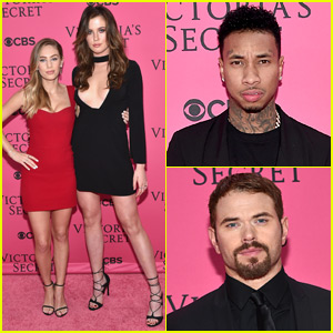 Dylan Penn & Ireland Baldwin Pal Up at Victoria's Secret Fashion Show 2015